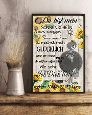 lion poster - You are my sunshine - german vs 11x17 Poster lifestyle-poster-3