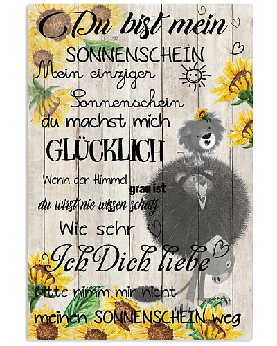lion poster - You are my sunshine - german vs