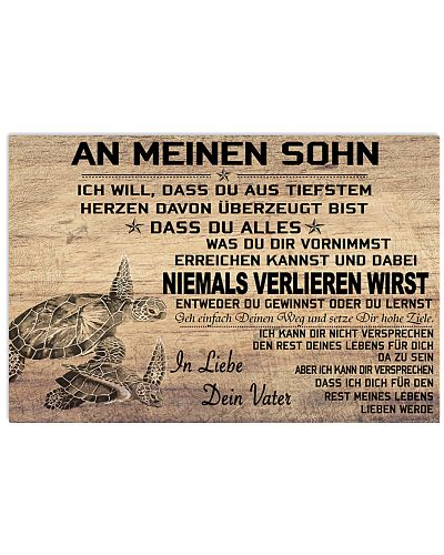 turtle poster - to son-never lose german version