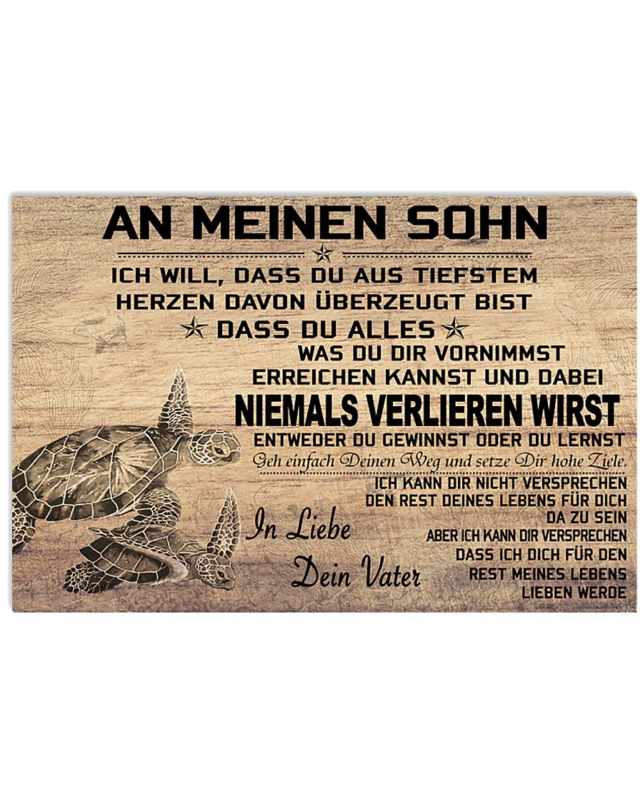 turtle poster - to son-never lose german version 17x11 Poster