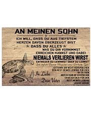 turtle poster - to son-never lose german version 17x11 Poster front