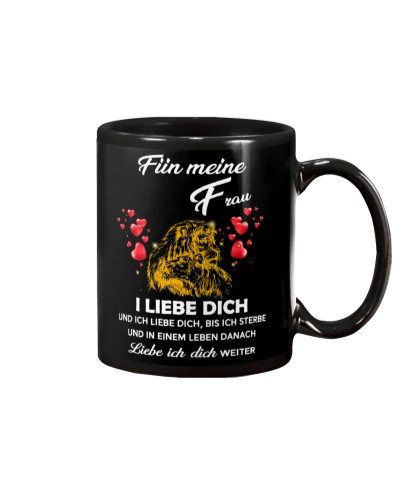 lion mug - I love you - german vs
