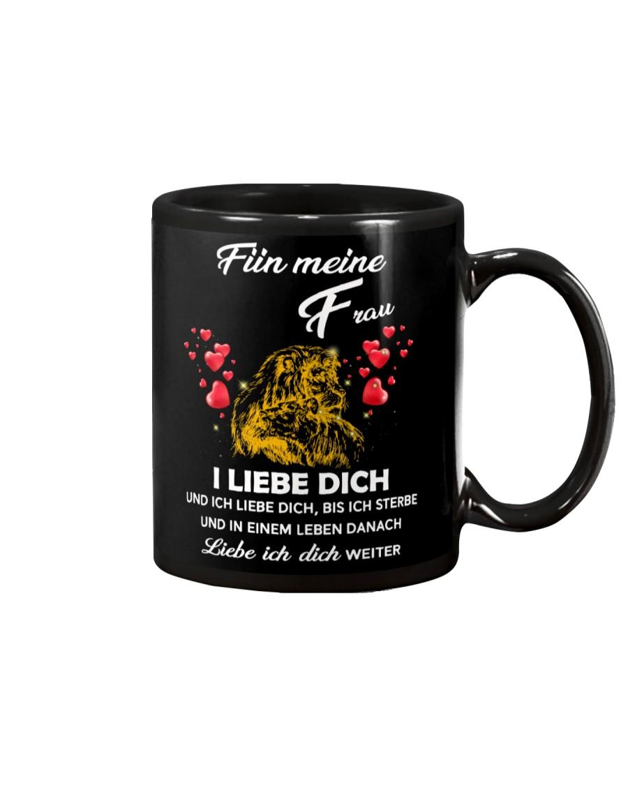 lion mug - I love you - german vs Mug