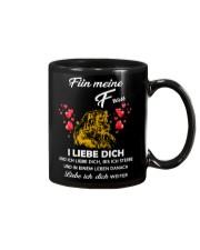 lion mug - I love you - german vs Mug front