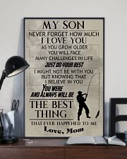 FISHING POSTER - TO MY SON 11x17 Poster lifestyle-poster-2