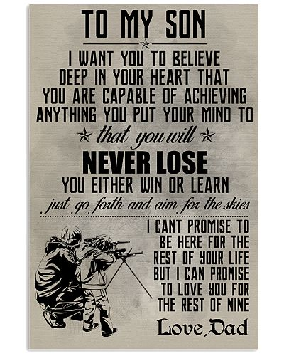 HUNTING POSTER - TO MY SON