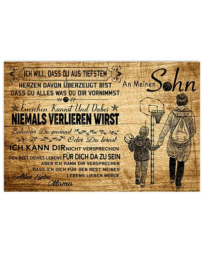 basketball poster - to son-never lose german vs3
