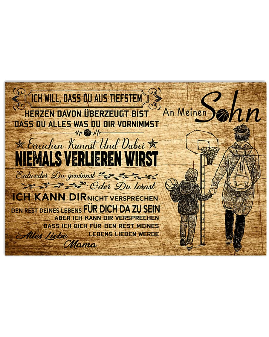basketball poster - to son-never lose german vs3 17x11 Poster