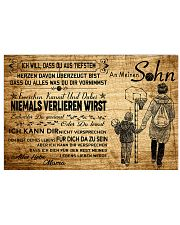 basketball poster - to son-never lose german vs3 17x11 Poster front