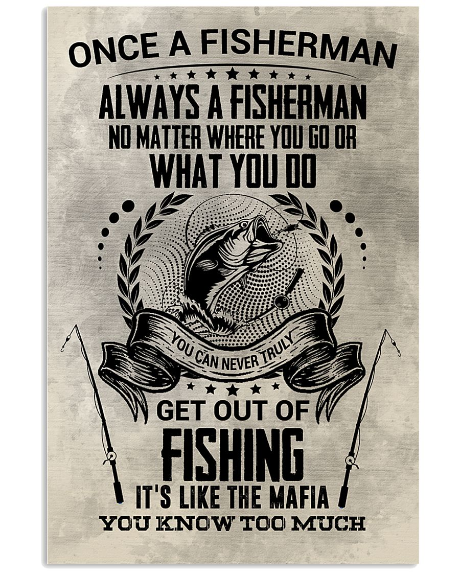 FUNNY FISHING 16x24 Poster