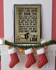 LION - I AM A LION 16x24 Poster lifestyle-holiday-poster-4
