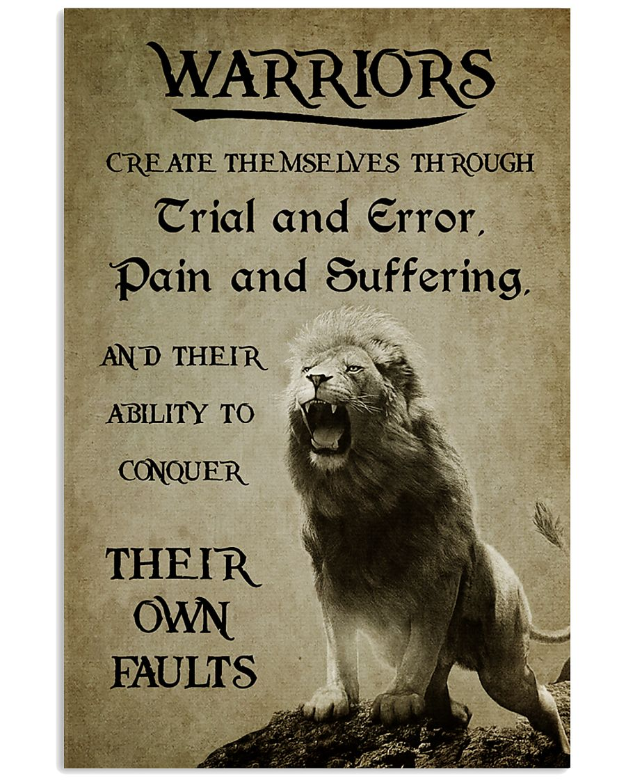 LION - WARRIOR CREAT THEMSELVES 16x24 Poster