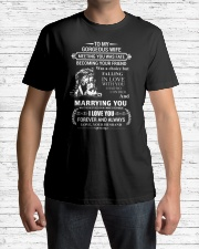 LION - TO MY GORGEOUS WIFE Classic T-Shirt lifestyle-mens-crewneck-front-1
