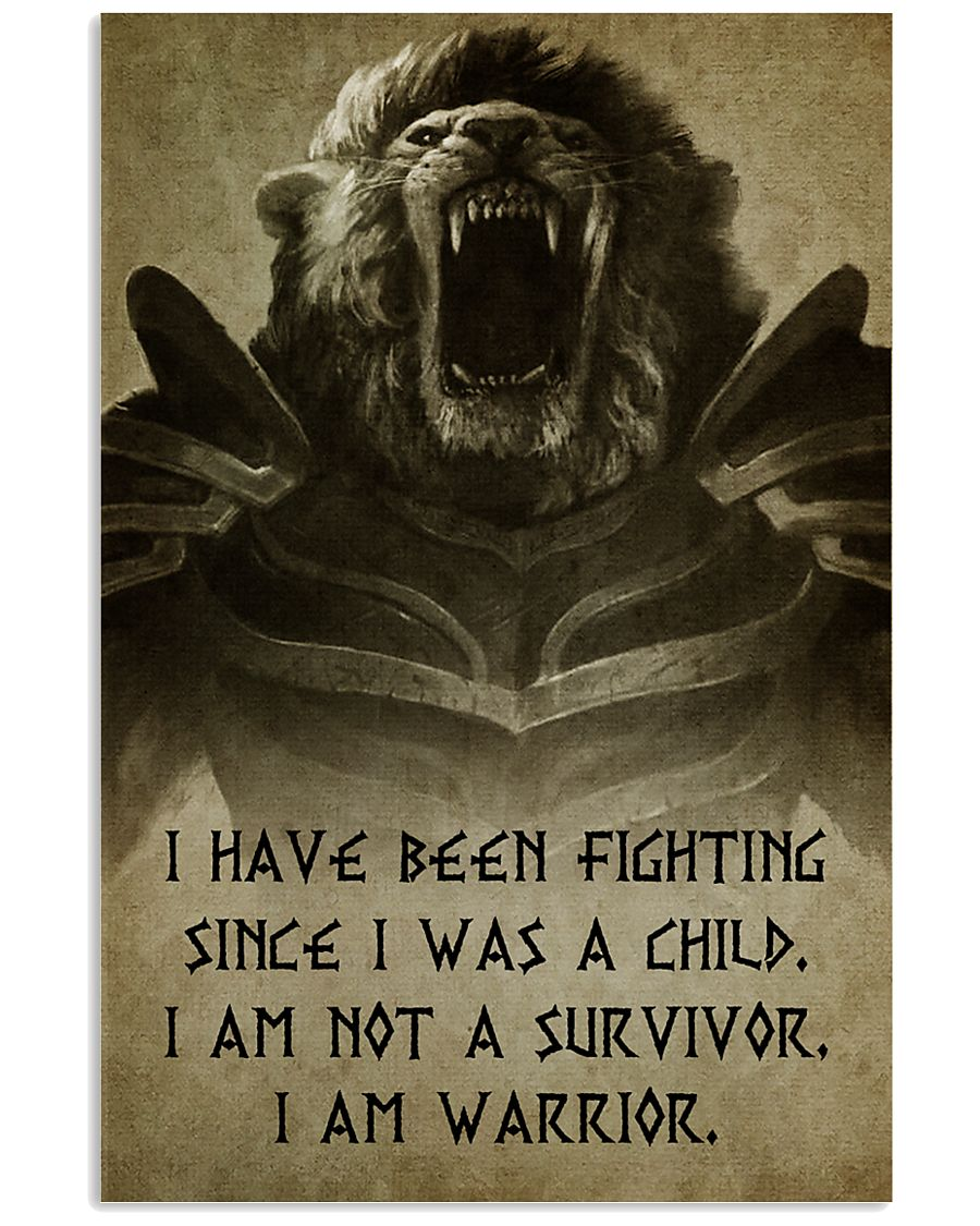 LION - I HAVE BEEN FIGHTING 16x24 Poster