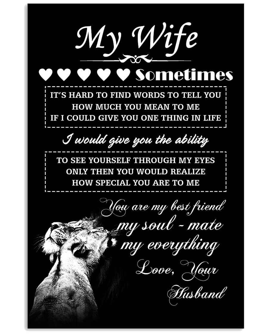 LION - My Wife  16x24 Poster