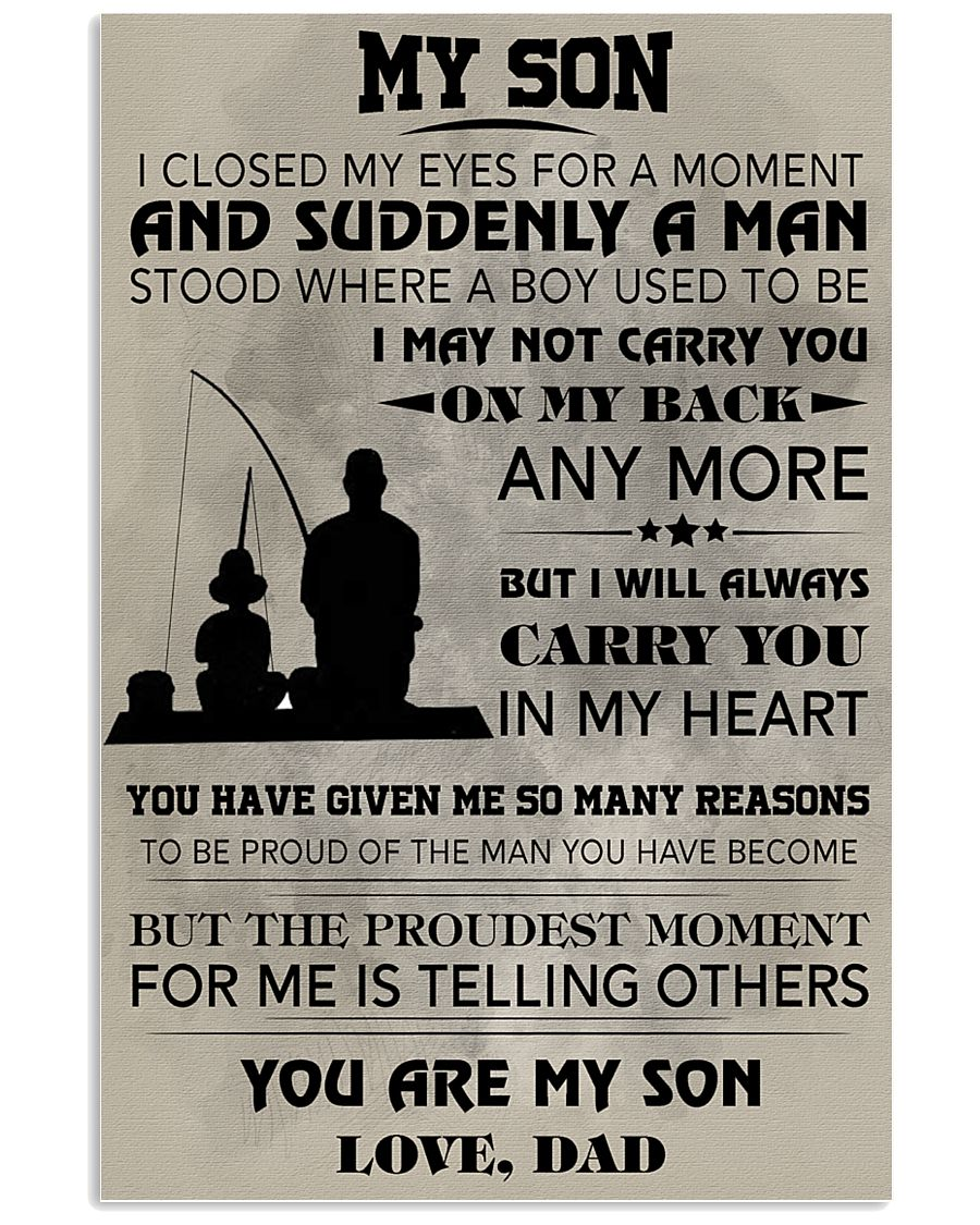 FISHING POSTER - TO MY SON 11x17 Poster