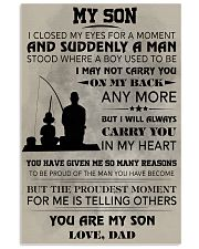 FISHING POSTER - TO MY SON 11x17 Poster front