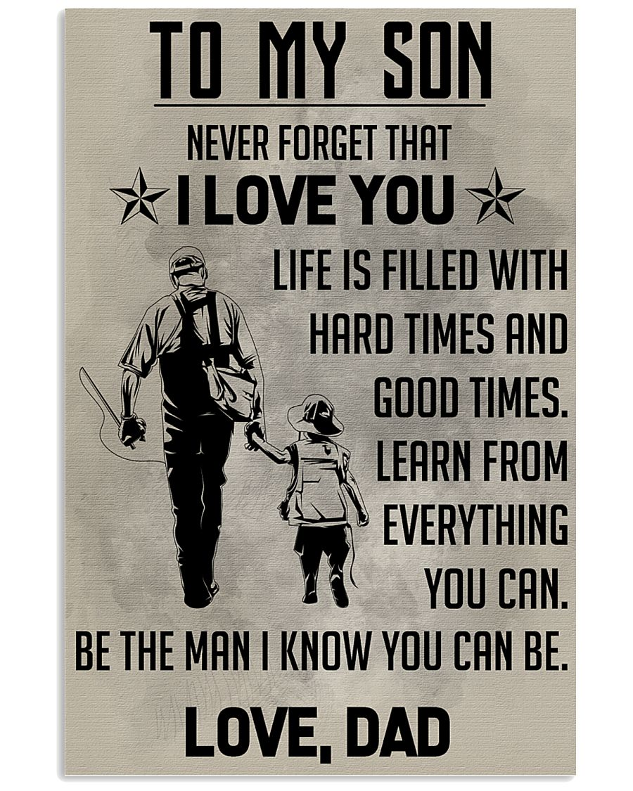 TO MY SON - FISHING  11x17 Poster