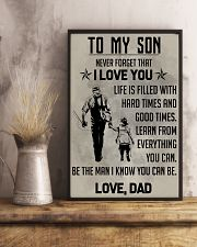 TO MY SON - FISHING  11x17 Poster lifestyle-poster-3