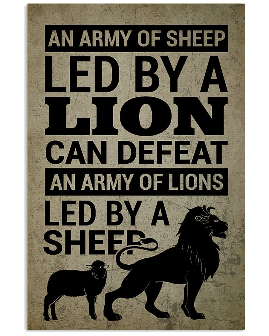 LION - A LION DOESN'T HAVE TO PROVE 16x24 Poster