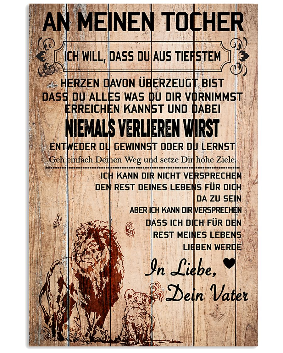lion poster-to daughter-never lose german vs1 11x17 Poster