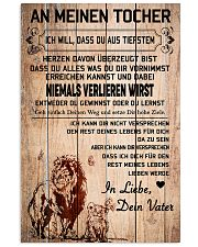 lion poster-to daughter-never lose german vs1 11x17 Poster front