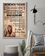 lion poster-to daughter-never lose german vs1 11x17 Poster lifestyle-poster-1