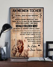 lion poster-to daughter-never lose german vs1 11x17 Poster lifestyle-poster-2