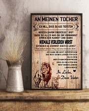lion poster-to daughter-never lose german vs1 11x17 Poster lifestyle-poster-3