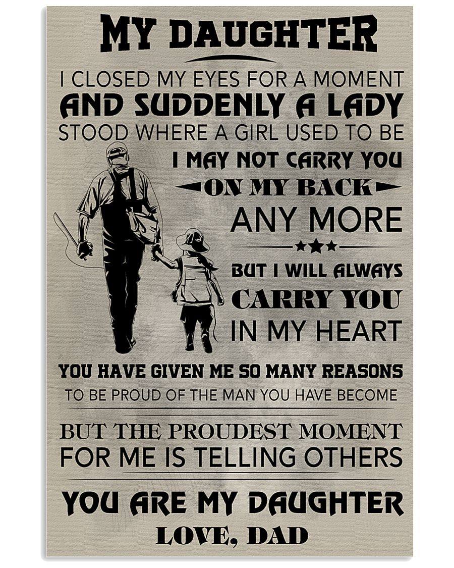 FISHING POSTER - TO MY DAUGHTER 11x17 Poster