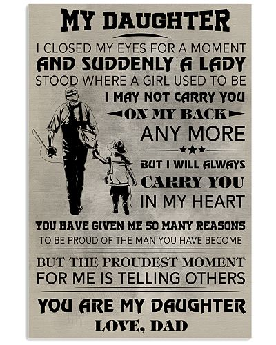 FISHING POSTER - TO MY DAUGHTER