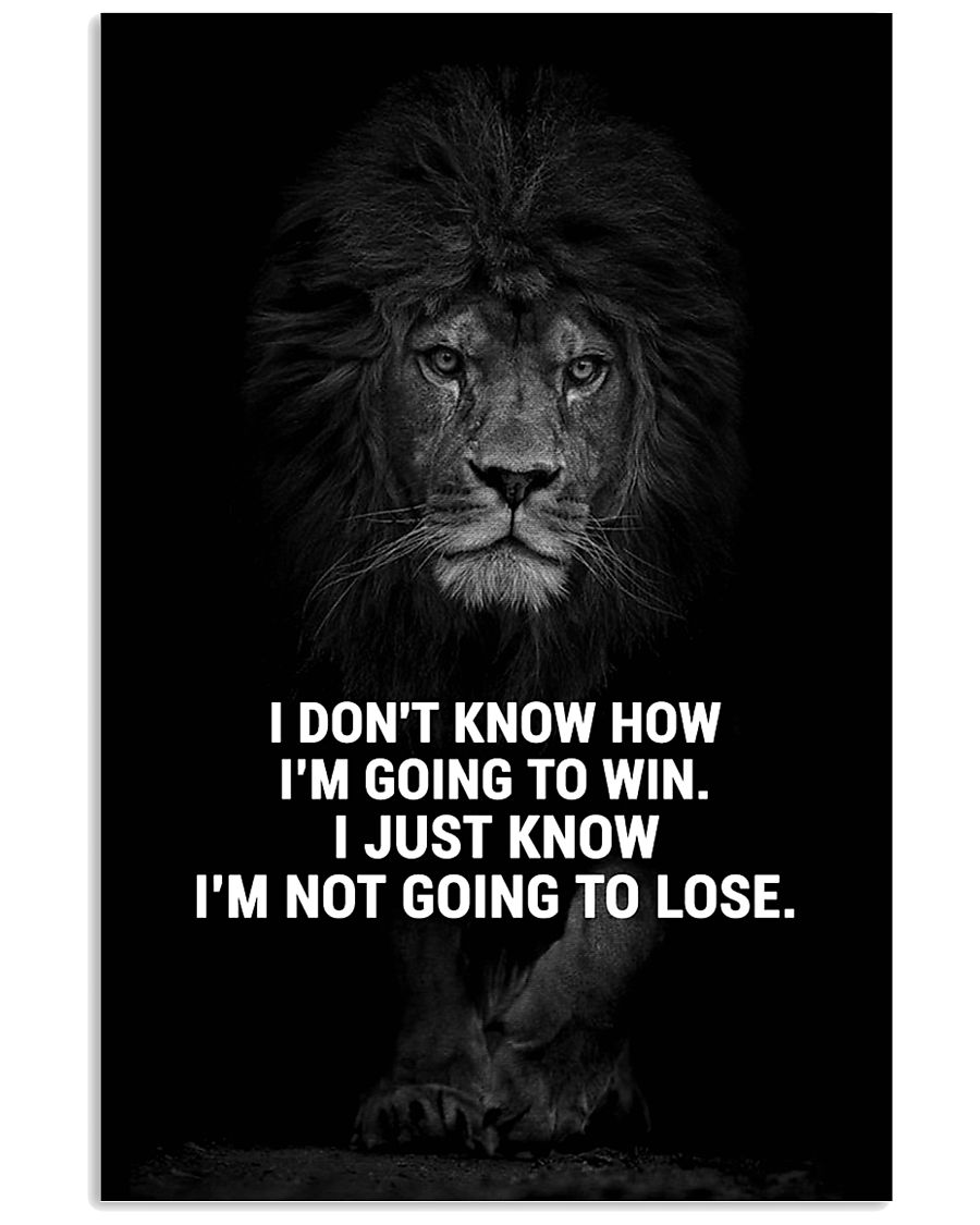 LION - A STUDENT SAID  16x24 Poster