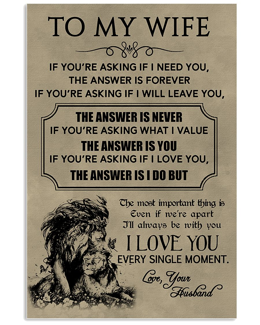 LION - TO MY WIFE 16x24 Poster