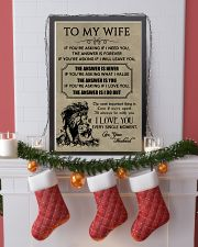 LION - TO MY WIFE 16x24 Poster lifestyle-holiday-poster-4