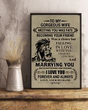 LION - TO MY GORGEOUS WIFE 16x24 Poster lifestyle-poster-3
