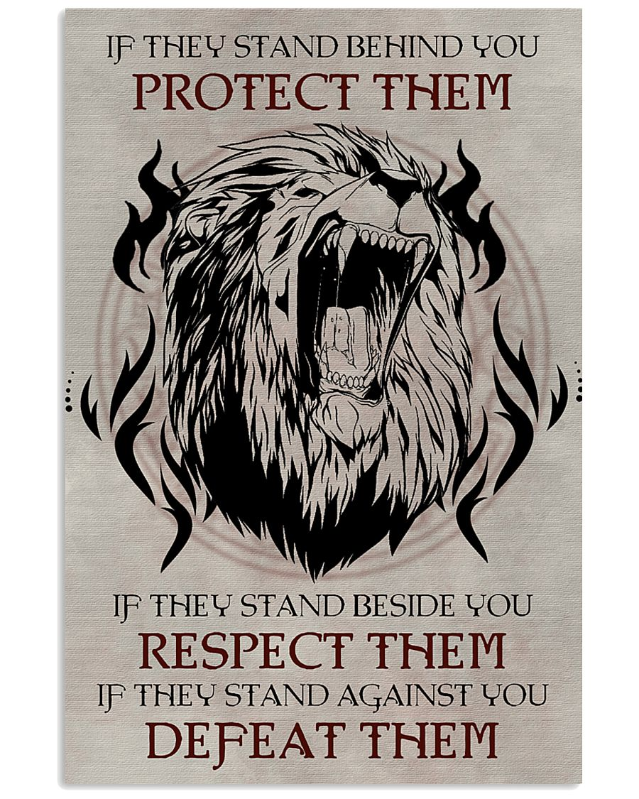 LION - IF THEY STAND BEHIND YOU 16x24 Poster