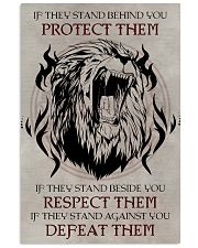 LION - IF THEY STAND BEHIND YOU 16x24 Poster front