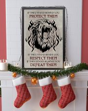 LION - IF THEY STAND BEHIND YOU 16x24 Poster lifestyle-holiday-poster-4