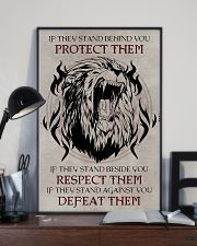 LION - IF THEY STAND BEHIND YOU 16x24 Poster lifestyle-poster-2