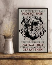LION - IF THEY STAND BEHIND YOU 16x24 Poster lifestyle-poster-3