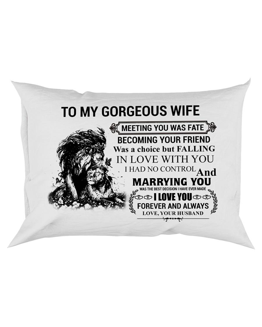 LION - TO MY GORGEOUS WIFE Rectangular Pillowcase