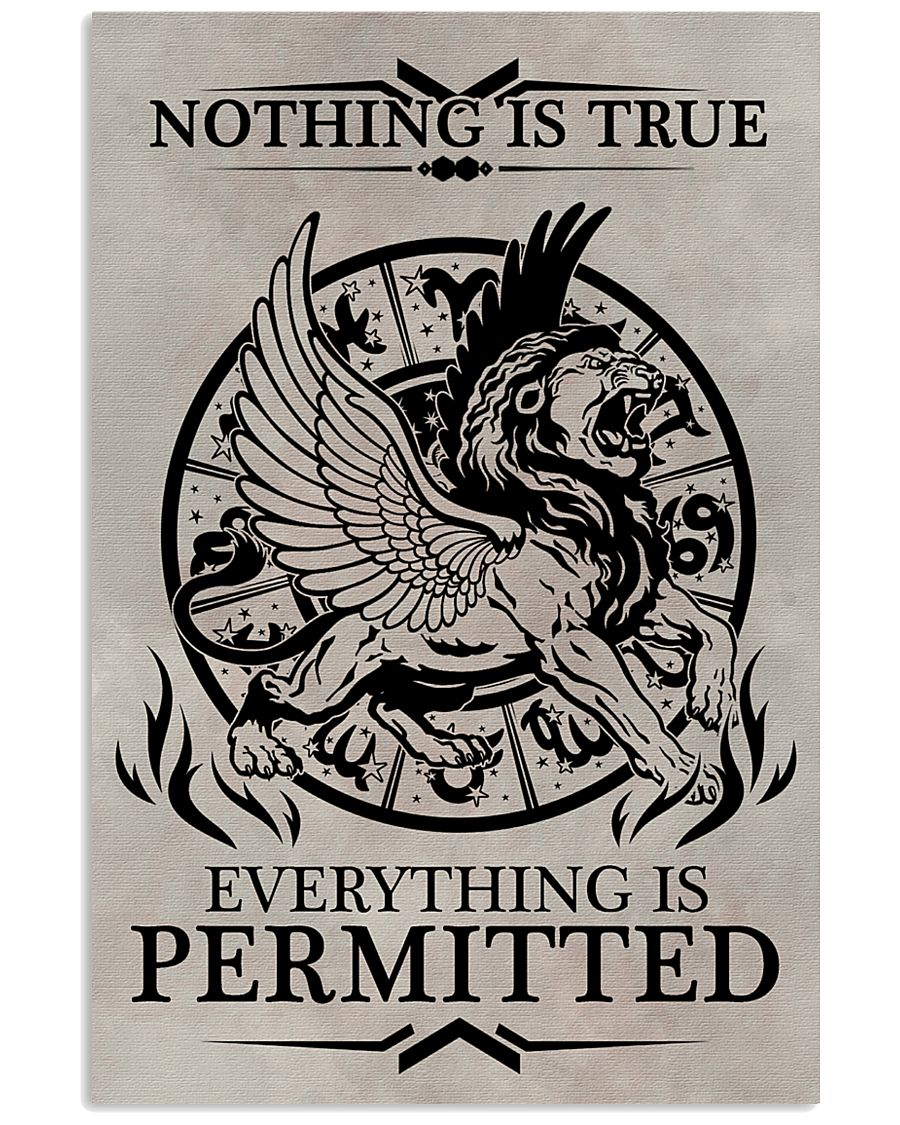 LION - NOTHING IS TRUE 16x24 Poster