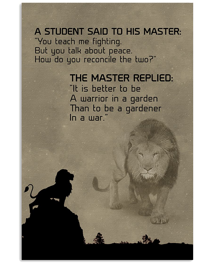 LION - A STUDENT SAID 16x24 Poster