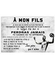 volleyball poster - to son-never lose french vs2 17x11 Poster front