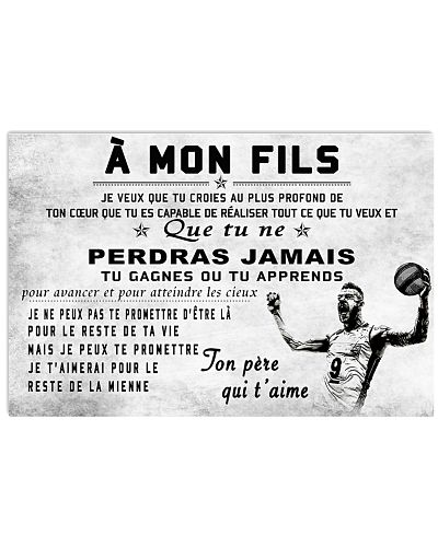 volleyball poster - to son-never lose french vs2