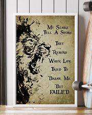 LION - MY SCARS TELL A STORY 11x17 Poster lifestyle-poster-4