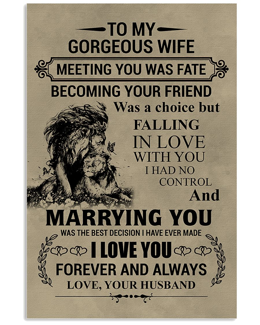 LION - TO MY GORGEOUS WIFE 16x24 Poster