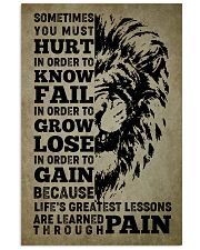 LION - SOMETIMES YOU MUST HURT 16x24 Poster front