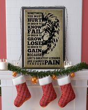 LION - SOMETIMES YOU MUST HURT 16x24 Poster lifestyle-holiday-poster-4