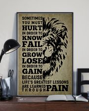 LION - SOMETIMES YOU MUST HURT 16x24 Poster lifestyle-poster-2